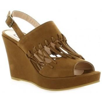 Chaussures Femme Sandales et Nu-pieds Benoite C Nu pieds cuir nubuck Cognac