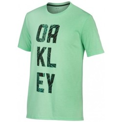 Vêtements Homme T-shirts manches courtes Oakley T-shirt  O-train Palm Fill Viper Lt Htr Vert