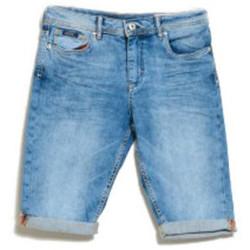 Vêtements Garçon Shorts / Bermudas Kaporal Bermuda en jean Garçon Eole Bleu Bleu