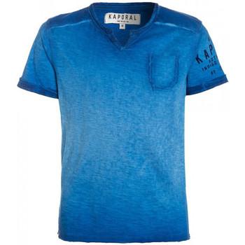 Vêtements Garçon T-shirts manches courtes Kaporal T-Shirt Garçon Makao Cobalt Bleu