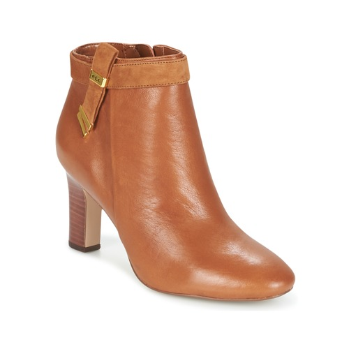 Chaussures Femme Bottines Ralph Lauren BRIN Cognac