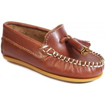 Chaussures Fille Mocassins La Valenciana ZAPATOS NIÑOS  024 CUERO Marron