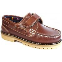 Chaussures Enfant Chaussures bateau La Valenciana Zapatos Niños  031 Cuero Marron