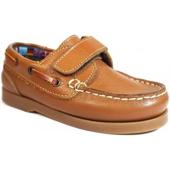 Chaussures Enfant Chaussures bateau La Valenciana Zapatos Niños  020 Cuero Marron