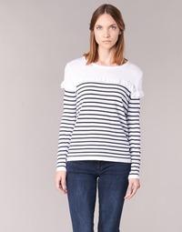Vêtements Femme Pulls Betty London HOMI Marine / Blanc