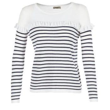 Vêtements Femme Pulls Betty London HOMI Marine / Blanc
