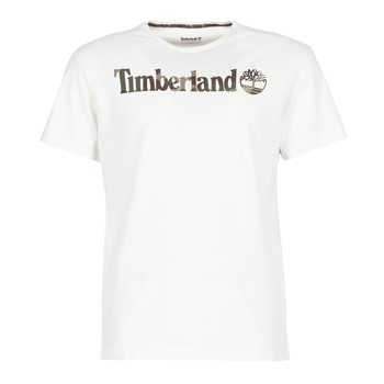 Vêtements Homme T-shirts manches courtes Timberland DUNSTAN RIVER CAMO PRINT Blanc
