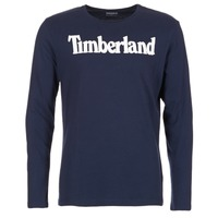 Vêtements Homme T-shirts manches longues Timberland LINEAR LOGO PRINT RINGER Marine