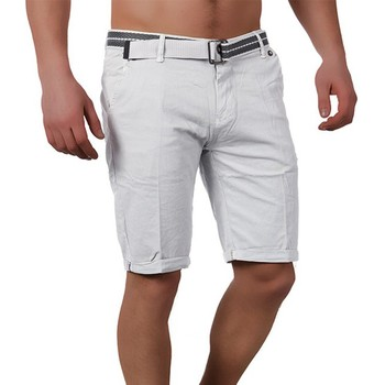 Vêtements Homme Shorts / Bermudas Monsieurmode Bermuda fashion homme Bermuda 16848 gris clair Gris