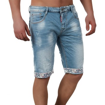 Vêtements Homme Shorts / Bermudas Monsieurmode Short jeans fashion homme Short 7761 bleu Bleu