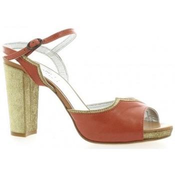 Chaussures Femme Sandales et Nu-pieds Ambiance Nu pieds cuir cail Corail