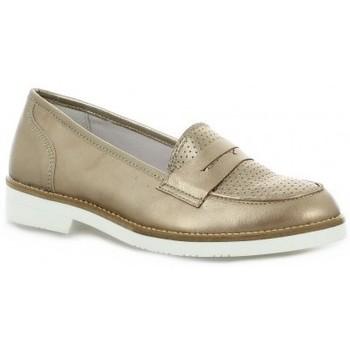 Chaussures Femme Mocassins So Send Mocassins cuir laminé Bronze