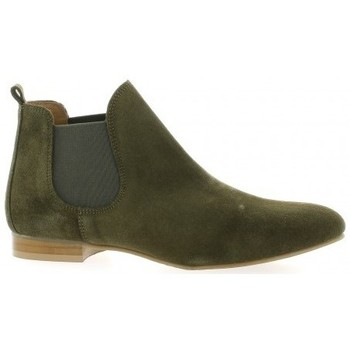 We Do Boots cuir velours Kaki - Chaussures Boot Femme