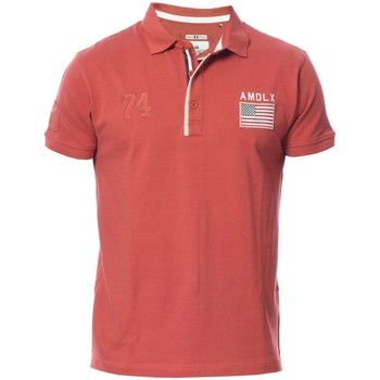 Vêtements Homme Polos manches courtes Deeluxe POLO HOMME DRISK rouge
