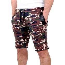 Vêtements Homme Shorts / Bermudas Rerock Bermuda camouflage homme Bermuda 319 marron Marron
