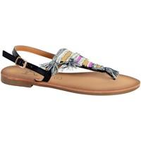 Chaussures Femme Sandales et Nu-pieds The Divine Factory Sandale Entredoigt Noir