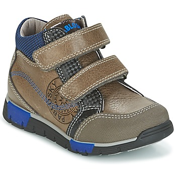 Chaussures Garçon Baskets montantes Pablosky DENTELY Gris / Bleu