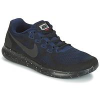 Chaussures Femme Running / trail Nike FREE RUN 2017 SHIELD Noir / Bleu