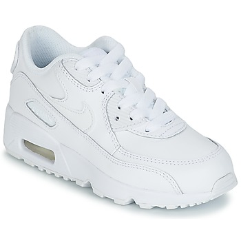 Chaussures Garçon Baskets basses Nike AIR MAX 90 LEATHER PRE-SCHOOL Blanc