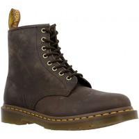 Chaussures Femme Boots Dr Martens 1460 cuir gras Femme Brun Fonce Brun Fonce
