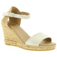 Chaussures Femme Espadrilles Pao Espadrille cuir laminé Or