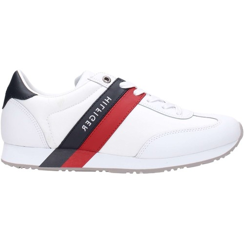 Tommy Hilfiger MAXWELL 12C1 4607 Sneakers Homme Blanc Blanc - Chaussures Baskets basses Homme