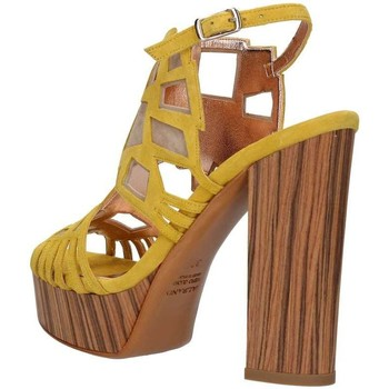 Chaussures Femme Sandales et Nu-pieds Albano 9807 Sandale Femme Jaune / Beige Jaune / Beige