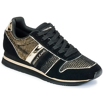 Chaussures Femme Baskets basses Versace Jeans LETRE Noir / Or
