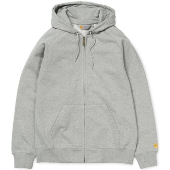 Vêtements Sweats Carhartt SWEAT  ZIPPE A CAPUCHE CHASE LT GRIS GRIS