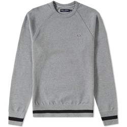 Vêtements Sweats Fred Perry SWEAT  CREW NECK GRIS A BANDES GRIS