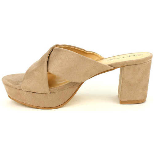 Chaussures Sandales Femme Nu Cendriyon pieds Taupe Et EI9YeDWH2