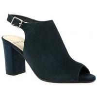 Chaussures Femme Sandales et Nu-pieds Exit Nu pieds cuir velours Bleu