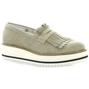 Chaussures Femme Mocassins Exit Mocassins cuir velours Taupe