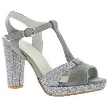 Chaussures Femme Sandales et Nu-pieds Reqin's Escarpins cuir velours Gris