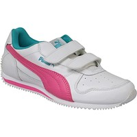 Chaussures Enfant Baskets basses Puma Fieldsprint L V PS Blanc
