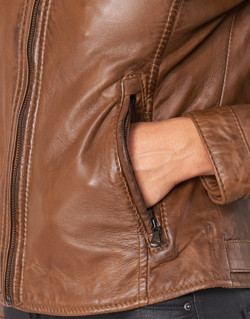 PARADIS  Oakwood  vestes en cuir / synthétiques  femme  camel