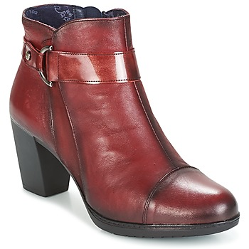 Chaussures Femme Bottines Dorking EVELYNE Rouge