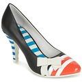 Chaussures Femme Escarpins Lola Ramona STILETTO Noir / Orange / Blanc