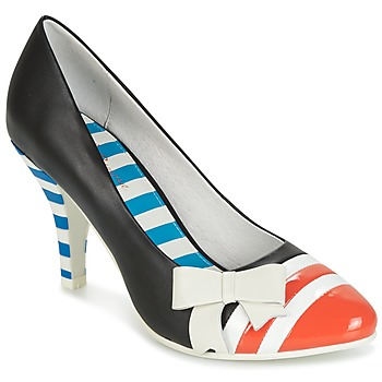 Chaussures Femme Escarpins Lola Ramona STILETTO Noir / Orange / Blanc