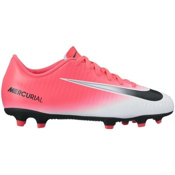 Chaussures Enfant Football Nike Junior Mercurial Vortex Iii FG Rose-Blanc