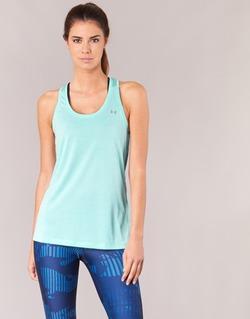 Vêtements Femme Débardeurs / T-shirts sans manche Under Armour TECH TANK - SOLID Vert