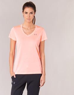 Vêtements Femme T-shirts manches courtes Under Armour TECH SSV - TWIST Corail