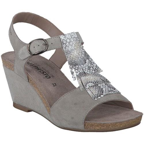 Mephisto Sandales JENNY Gris - Livraison Gratuite avec  - Chaussures Sandale Femme