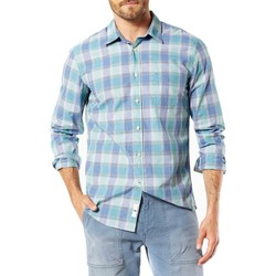 Vêtements Homme Chemises manches longues Dockers LAUNDERED POPLIN LS HARRINGTON Bleu