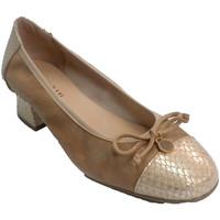 Chaussures Femme Escarpins Roldán femme à talons bas chaussures Nobu combi beige