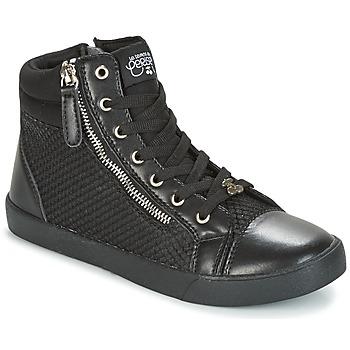 Chaussures Femme Baskets montantes Le Temps des Cerises KIM Noir