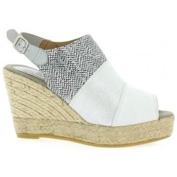 Chaussures Femme Espadrilles Pao Espadrille velours lamine Gris