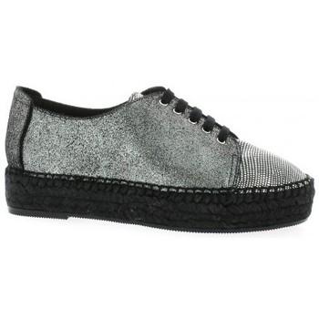 Chaussures Femme Espadrilles Pao Espadrille cuir laminé Noir