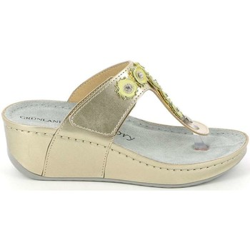 Chaussures Femme Tongs Grunland CI1246 Sandales Femmes Or Or