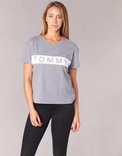 Vêtements Femme T-shirts manches courtes Tommy Jeans THDW CN T-SHIRT S/S 26 Gris / Blanc